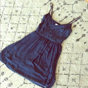 A&F navy blue dress